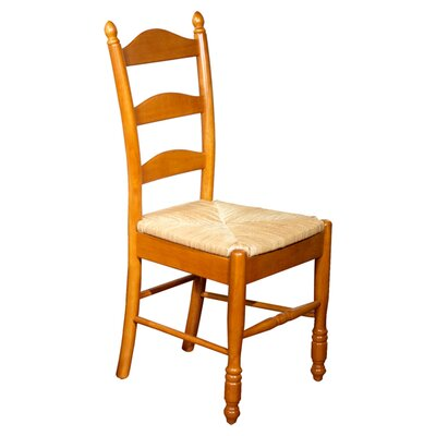 Gennevilliers Ladder Back Solid Wood Dining Chair Finish: Oak Stain