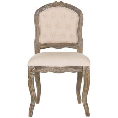 Lamarre Upholstered Dining Chair Upholstery: Beige