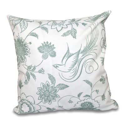 Grovetown Traditional Bird Throw Pillow Size: 16 H x 16 W, Color: Green