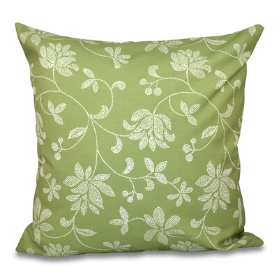 Grovetown Traditional Floral Print Throw Pillow Size: 16 H x 16 W, Color: Green