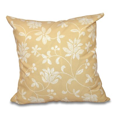 Grovetown Traditional Floral Print Throw Pillow Size: 26 H x 26 W, Color: Gold