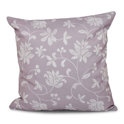 Grovetown Traditional Floral Print Throw Pillow Size: 26 H x 26 W, Color: Lavender