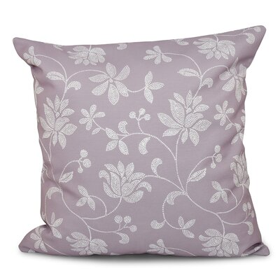 Grovetown Traditional Floral Outdoor Throw Pillow Size: 18 H x 18 W, Color: Lavender