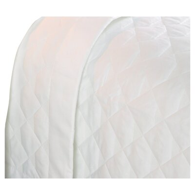 Annabelle Diamond Quilted 400 Thread Count Coverlet Size: Queen, Color: Pearl