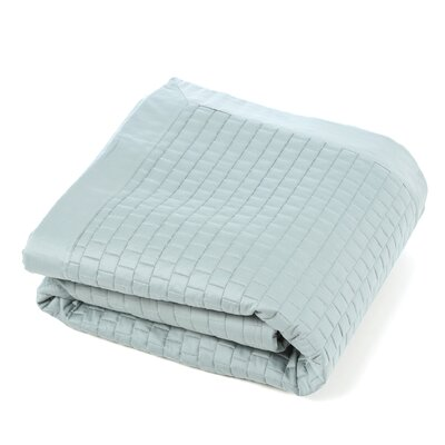 Isleboro Quilted Coverlet Size: Queen, Color: Eucalyptus