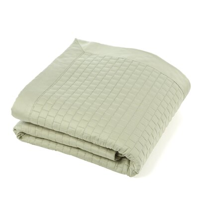 Isleboro Quilted Coverlet Size: Queen, Color: Thyme