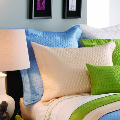 Isleboro Quilted Sham Color: Ocean, Size: King