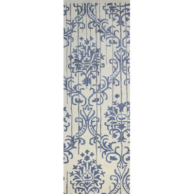 Izora Hand-Tufted Ivory Area Rug Rug Size: Runner 26 x 8