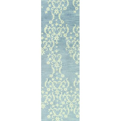 Scotland Hand-Tufted Light Blue Area Rug Rug Size: 56 x 86