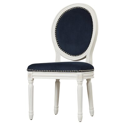 Leta Side Chair Upholstery: Velvet - Navy