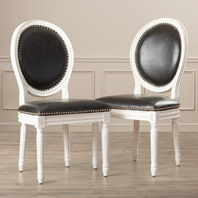 Leta Side Chair Upholstery: PU - Black