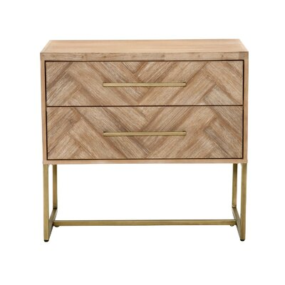 Parfondeval 2 Drawer Nightstand Color: Stone Wash