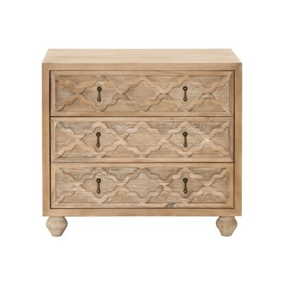 Parfondeval 3 Drawer Nightstand