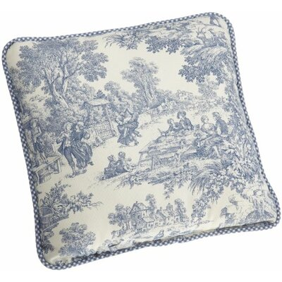Gatineau 100% Cotton Throw Pillow Color: Blue