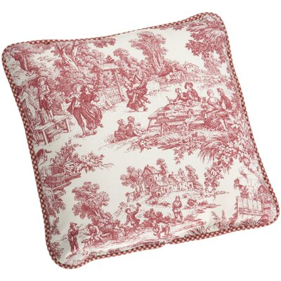 Gatineau 100% Cotton Throw Pillow Color: Red