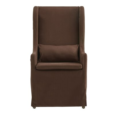 Lefebre Slipcovered Wingback Chair Upholstery: Brown