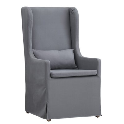 Lefebre Slipcovered Wingback Chair Upholstery: Gray