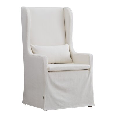 Lefebre Slipcovered Wingback Chair Upholstery: White