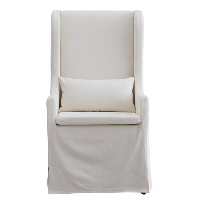 Lefebre Wingback Chair Upholstery: White