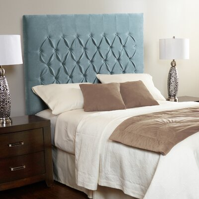 Laurent Upholstered Panel Headboard Size: Queen, Upholstery: Spa Blue