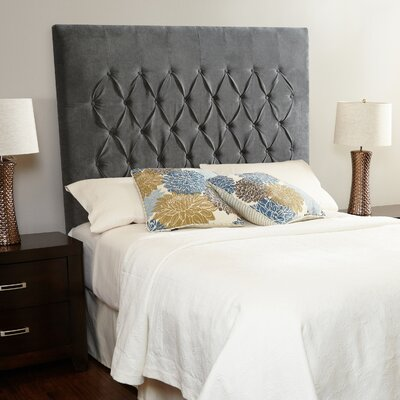 Laurent Upholstered Panel Headboard Size: Full, Upholstery: Smoke Grey