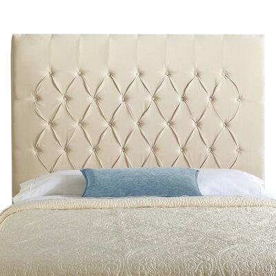 Laurent Upholstered Panel Headboard Size: Full, Upholstery: Ivory