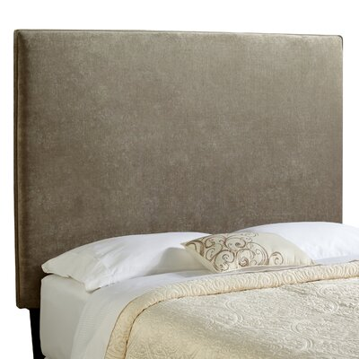 Laurent Upholstered Panel Headboard Size: Tall Full, Upholstery: Light Grey Velvet