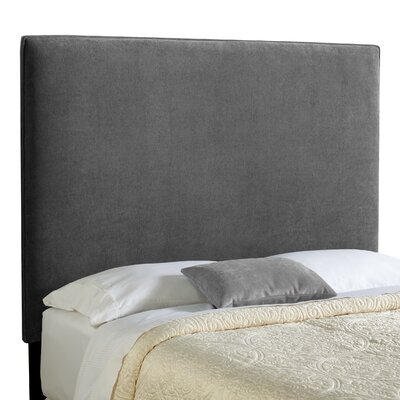 Laurent Upholstered Panel Headboard Size: Tall Queen, Upholstery: Gray Velvet