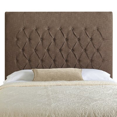 Laurent Upholstered Panel Headboard Upholstery: Brown, Size: Queen