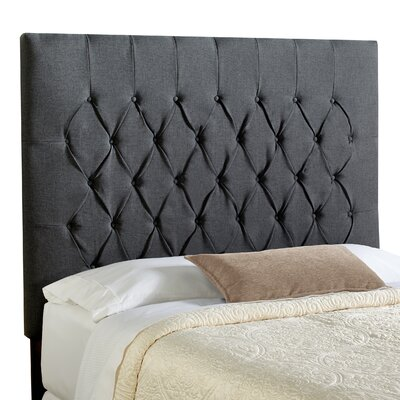 Laurent Upholstered Panel Headboard Upholstery: Charcoal Grey, Size: Queen