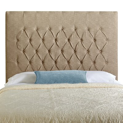 Laurent Upholstered Panel Headboard Upholstery: Beige, Size: Queen