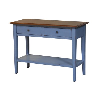 Legault Console Table Finish: Antique Blue/Walnut