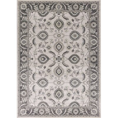 Lejeune Gray/Ivory Area Rug Rug Size: Rectangle 66 x 96