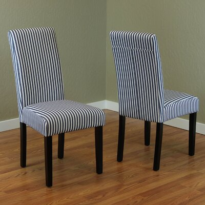 Lemelle Parsons Chair Upholstery: Blue