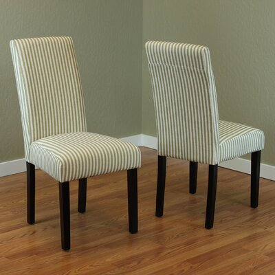 Lemelle Parsons Chair Upholstery: Moss Green