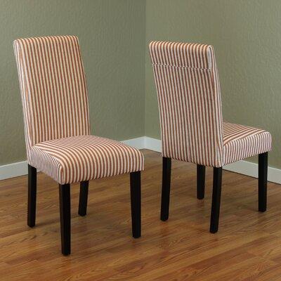 Lemelle Parsons Chair Upholstery: Tangerine
