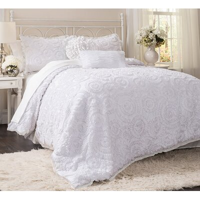 Lannion 3 Piece Comforter Set Size: King