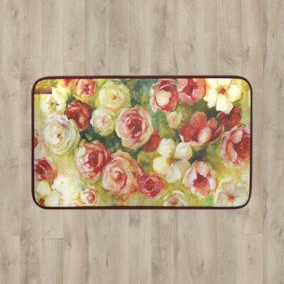 Parma Floral Kitchen Mat Rug Size: 16 x 26
