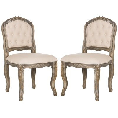 Tondreau Upholstered Dining Chair Upholstery: Beige