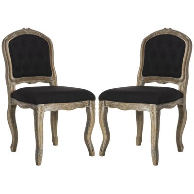 Tondreau Upholstered Dining Chair Upholstery: Black
