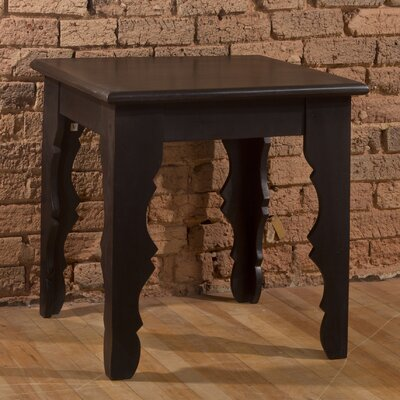 Morneau End Table Color: Distressed Black