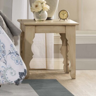 Morneau End Table Color: Distressed Antique White