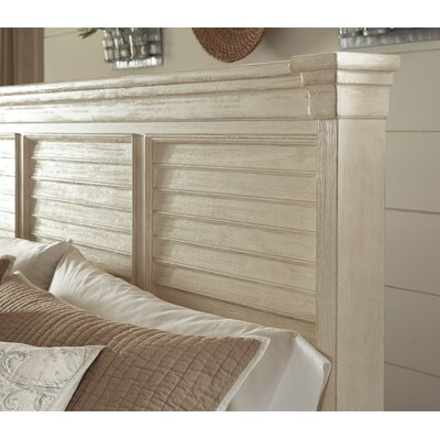 Alsace Panel Wood Headboard Size: California King