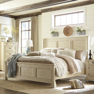 Alsace Traditional Wood Panel Bed