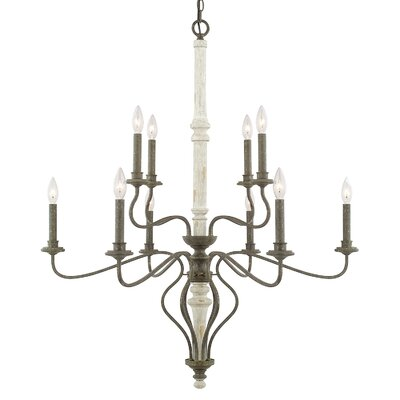 Galette 10-Light Candle-Style Chandelier