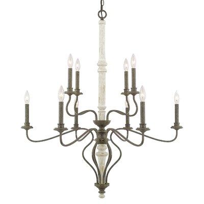 Surette 10-Light Candle-Style Chandelier