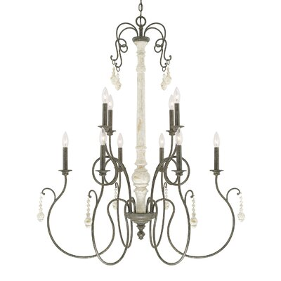 Baine 10-Light Candle-Style Chandelier