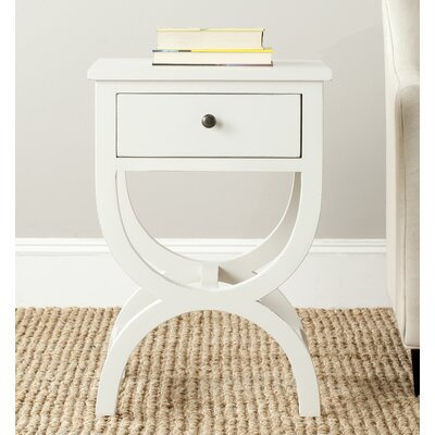 Laverriere 1 Drawer End Table Finish: Shady  White