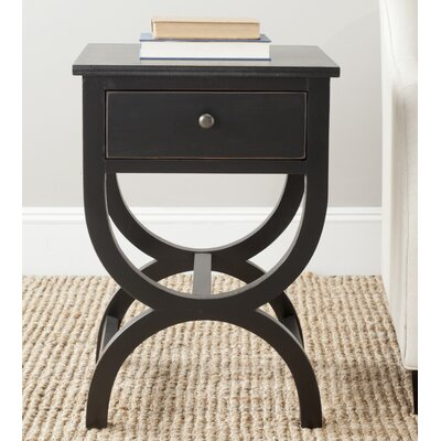 Laverriere 1 Drawer End Table Finish: Black