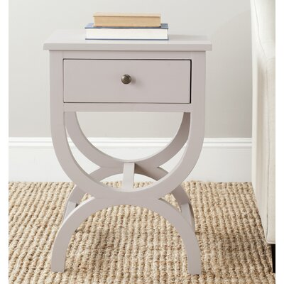 Laverriere End Table with Storage� Color: Quartz Gray